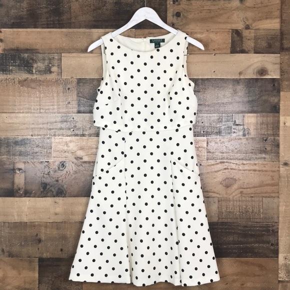 Lauren Ralph Lauren Dresses & Skirts - Lauren Ralph Lauren polka dots sleeveless dress 6